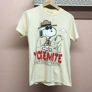 Vintage Snoopy 1971 Yosemite TShirt